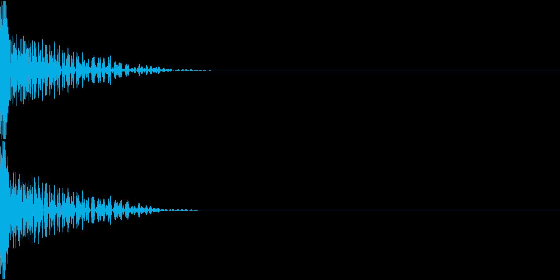 Invader ビーム銃 ショット音の再生済みの波形