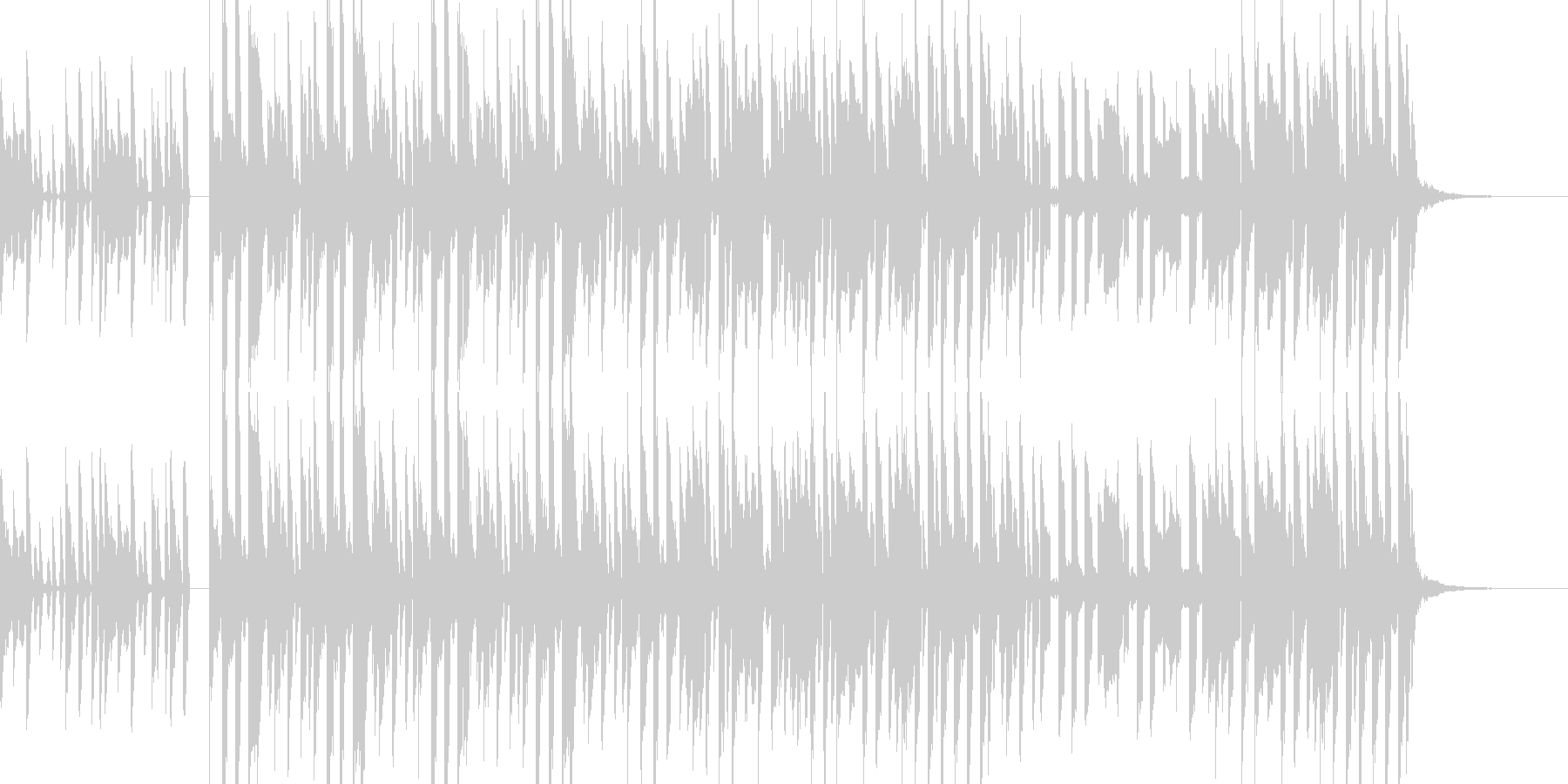 かわいくてコミカル、陽気なBGMの未再生の波形