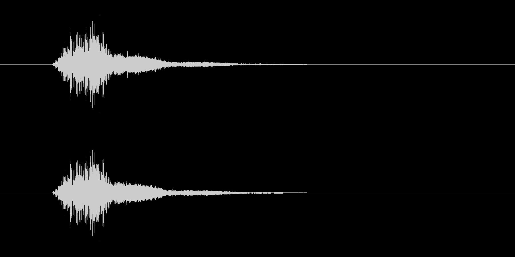 シャキーン 剣を高くかざす演出の時の音…の未再生の波形