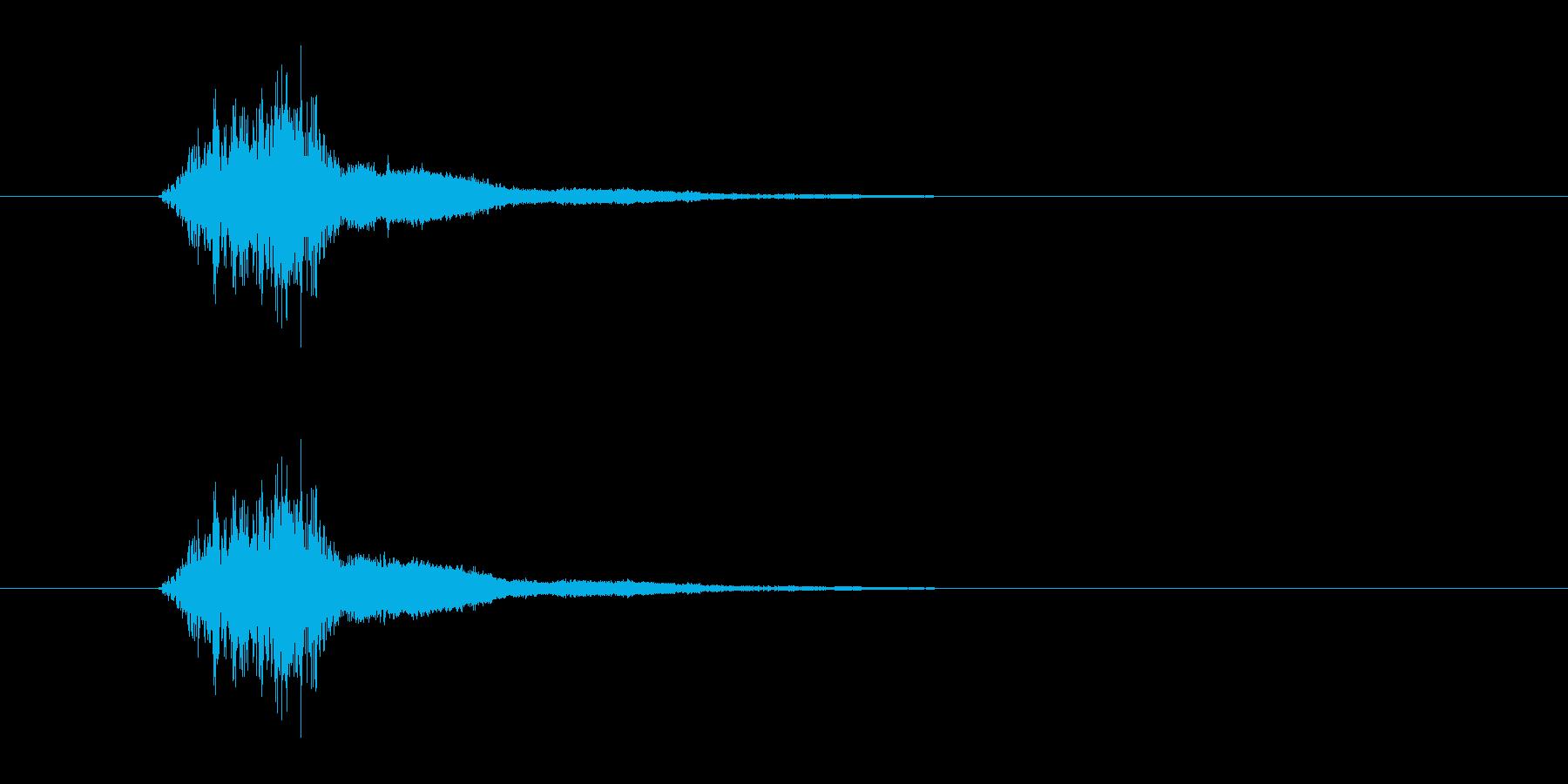 シャキーン 剣を高くかざす演出の時の音…の再生済みの波形