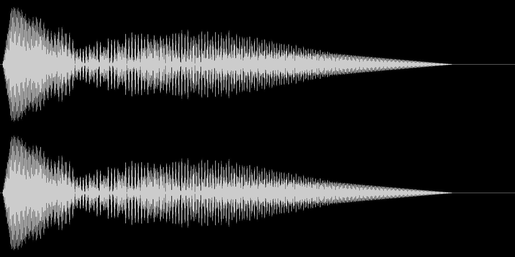 カーソル移動音3の未再生の波形