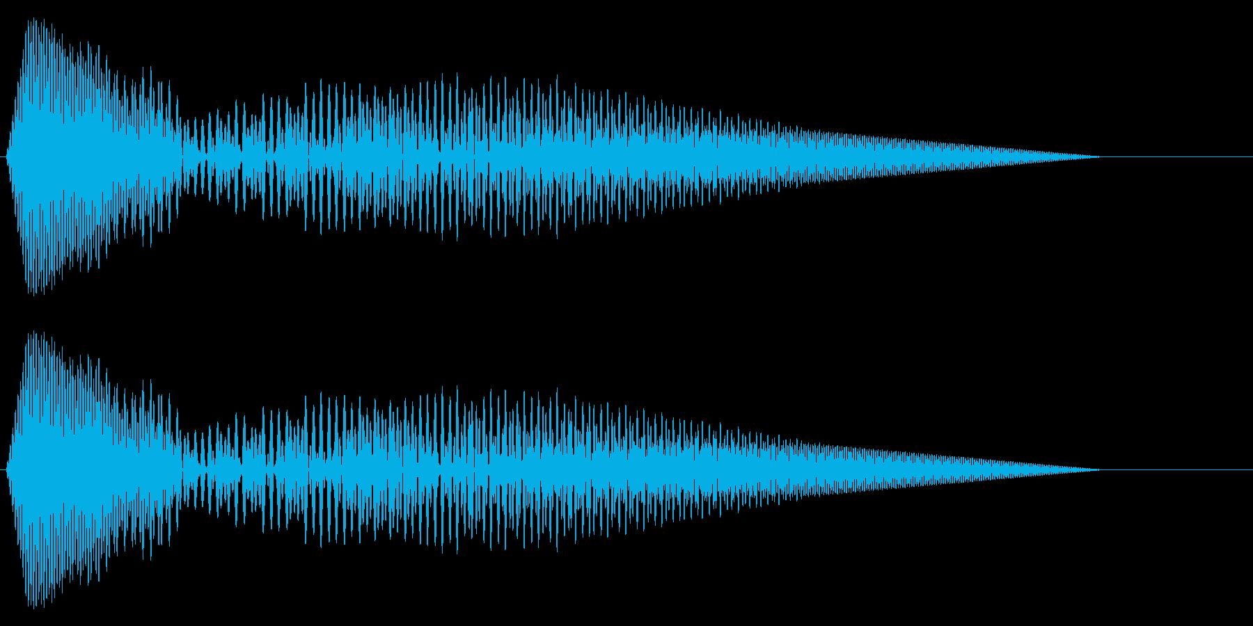 カーソル移動音3の再生済みの波形