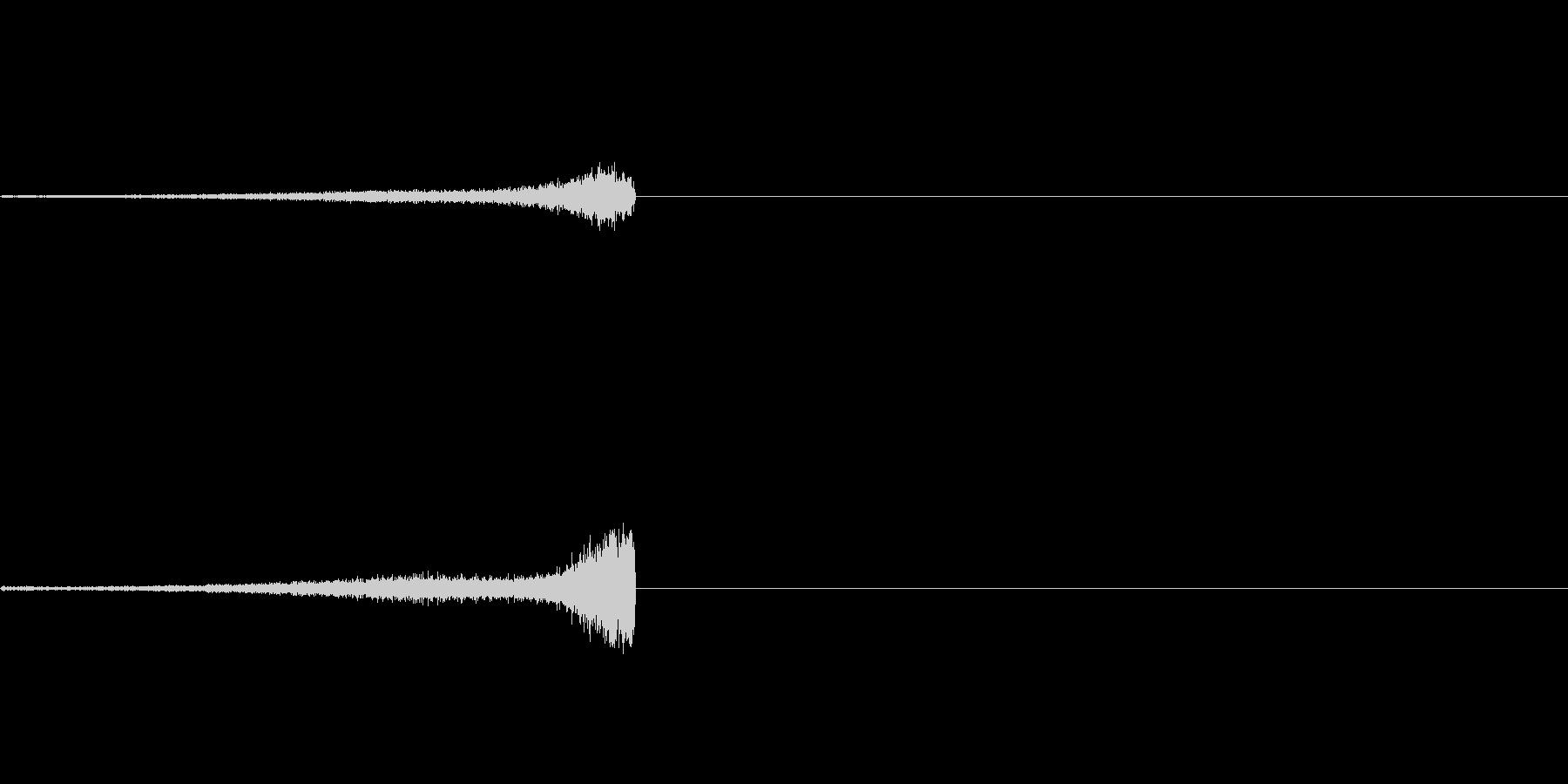 次のステップに進むクリック音5の未再生の波形