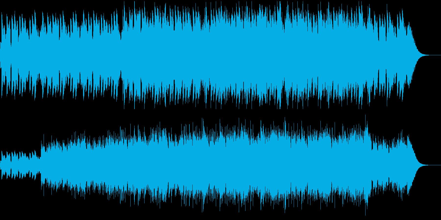 ハンドパンが幻想的な世界を作るBGMの再生済みの波形
