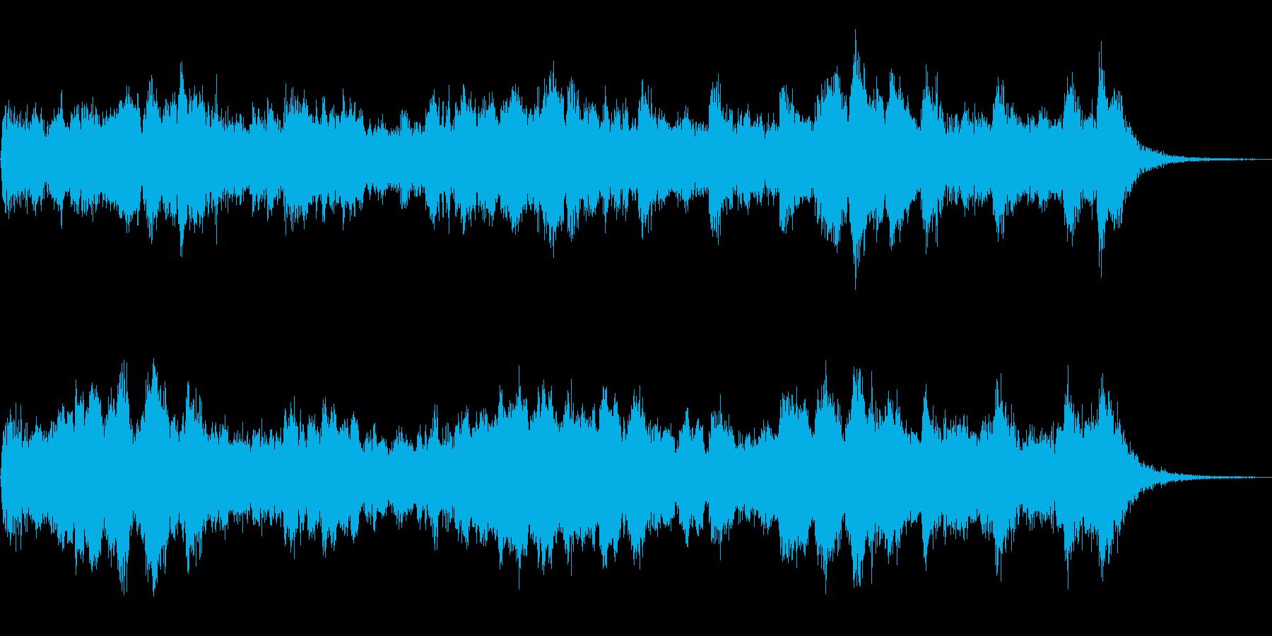 サスペンス系のオーケストラBGMの再生済みの波形