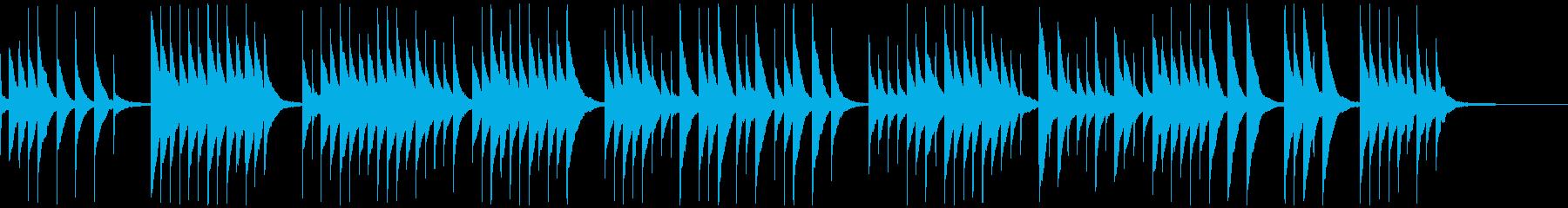 切ない寂しい感じのオルゴール曲の再生済みの波形