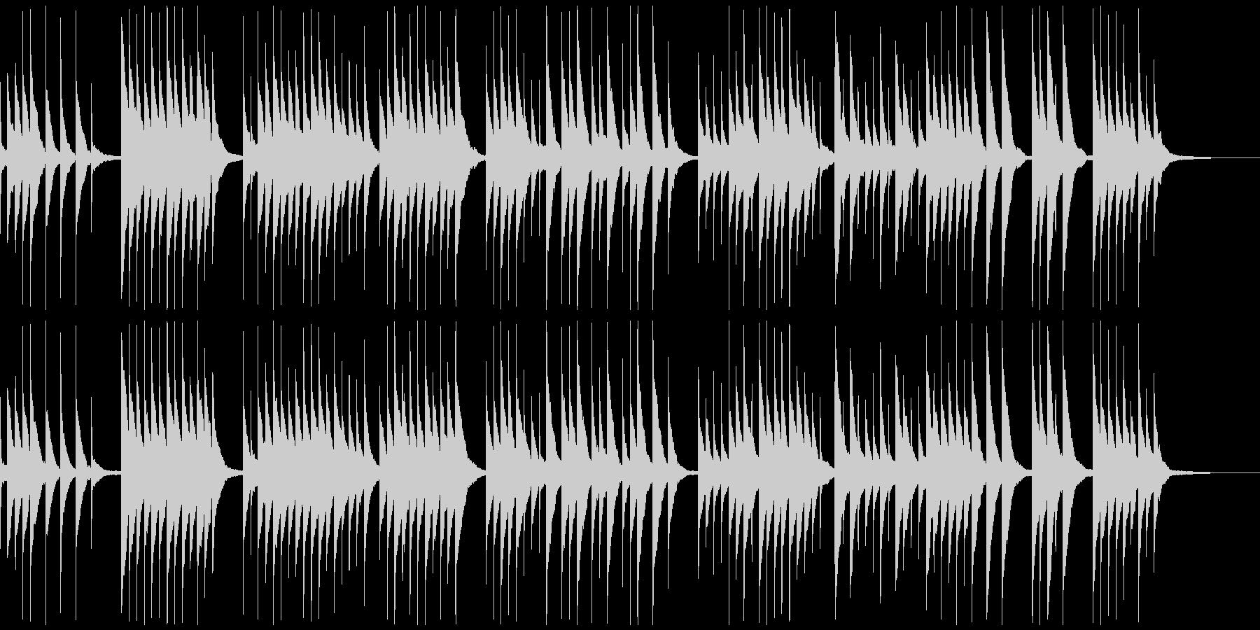 切ない寂しい感じのオルゴール曲の未再生の波形