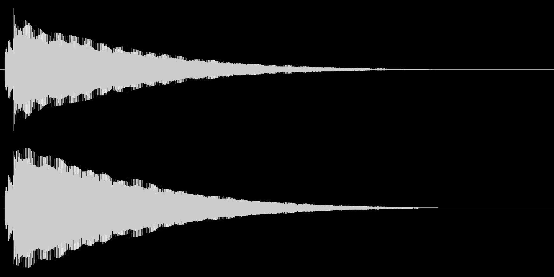 鉄琴の通知音の未再生の波形