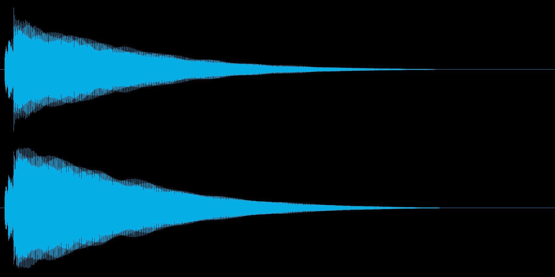 鉄琴の通知音の再生済みの波形