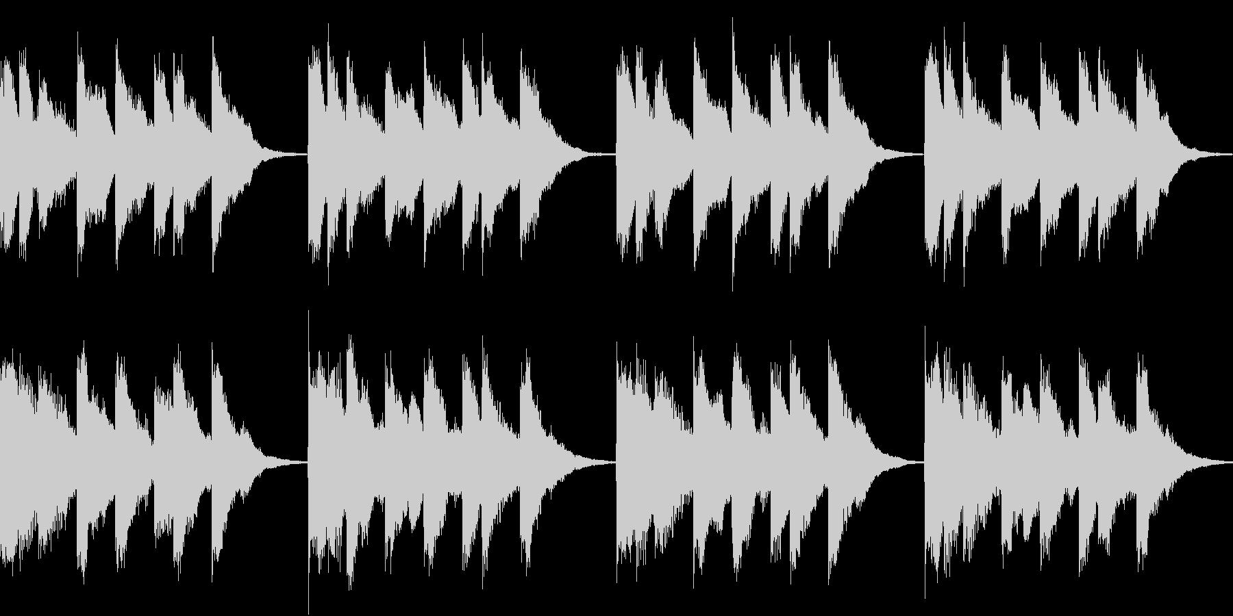 シンプル ベル 着信音 チャイム A-4の未再生の波形