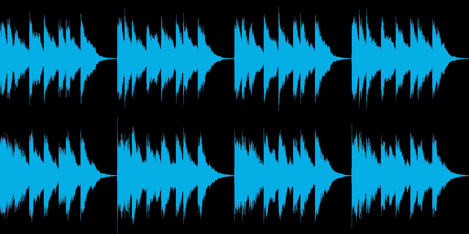 シンプル ベル 着信音 チャイム A-4の再生済みの波形