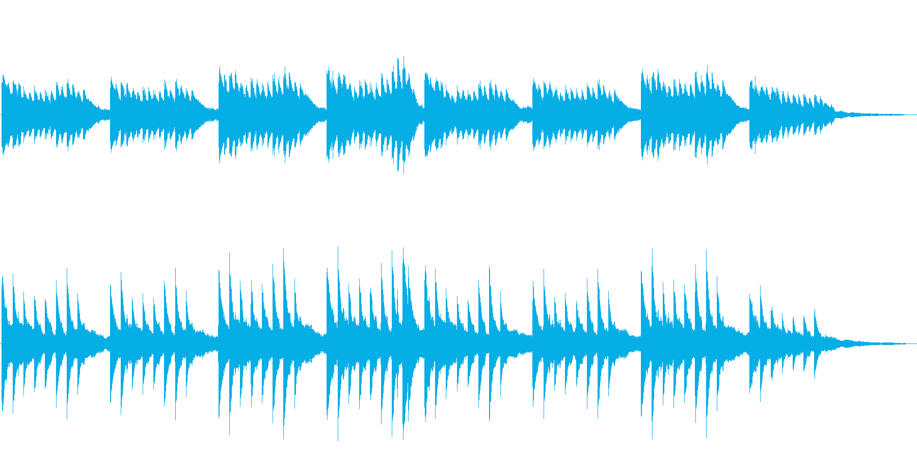 ジングル やさしく神秘的なピアノの再生済みの波形