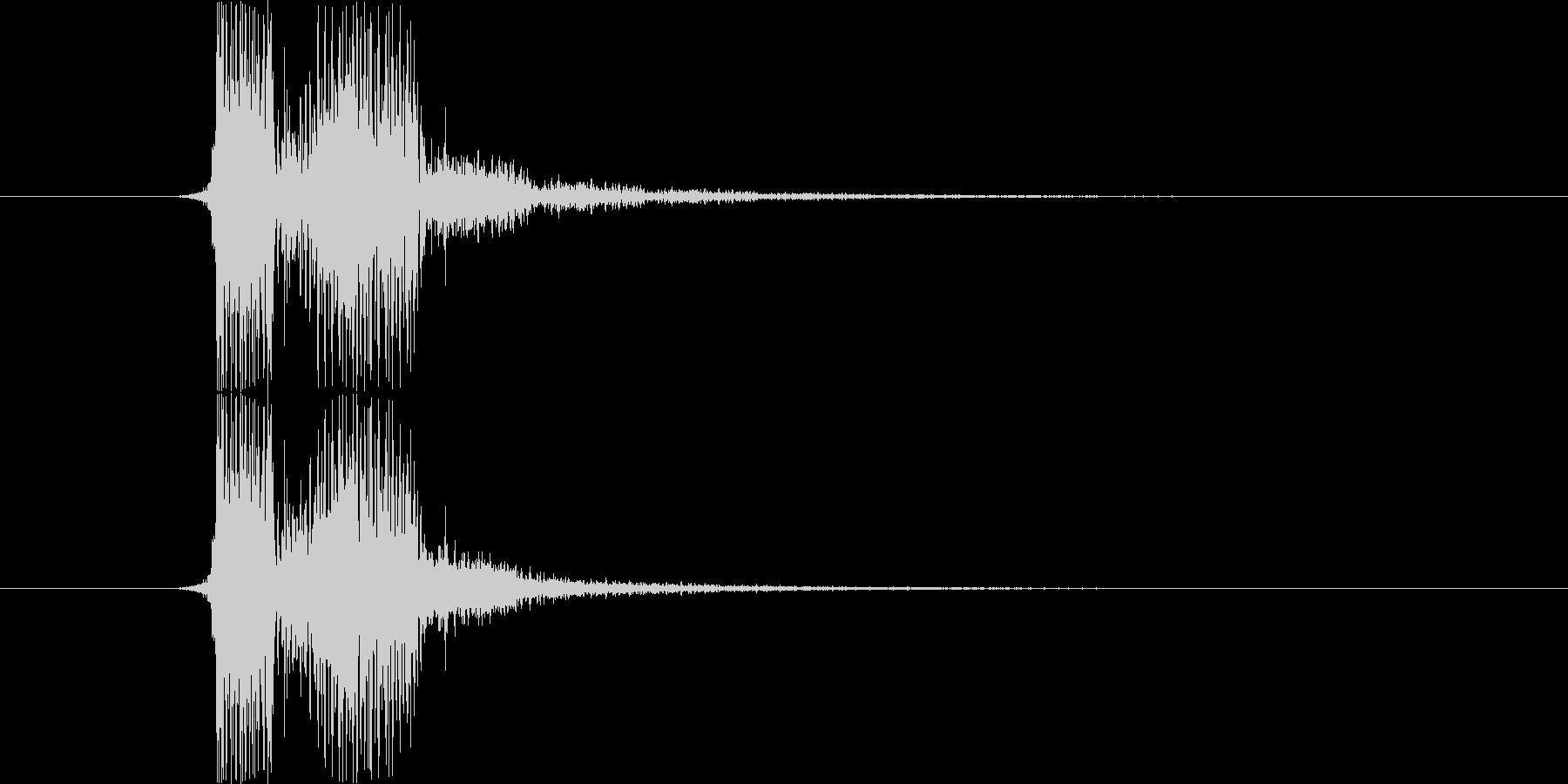 SF系の「フィニッシュ」という声の未再生の波形