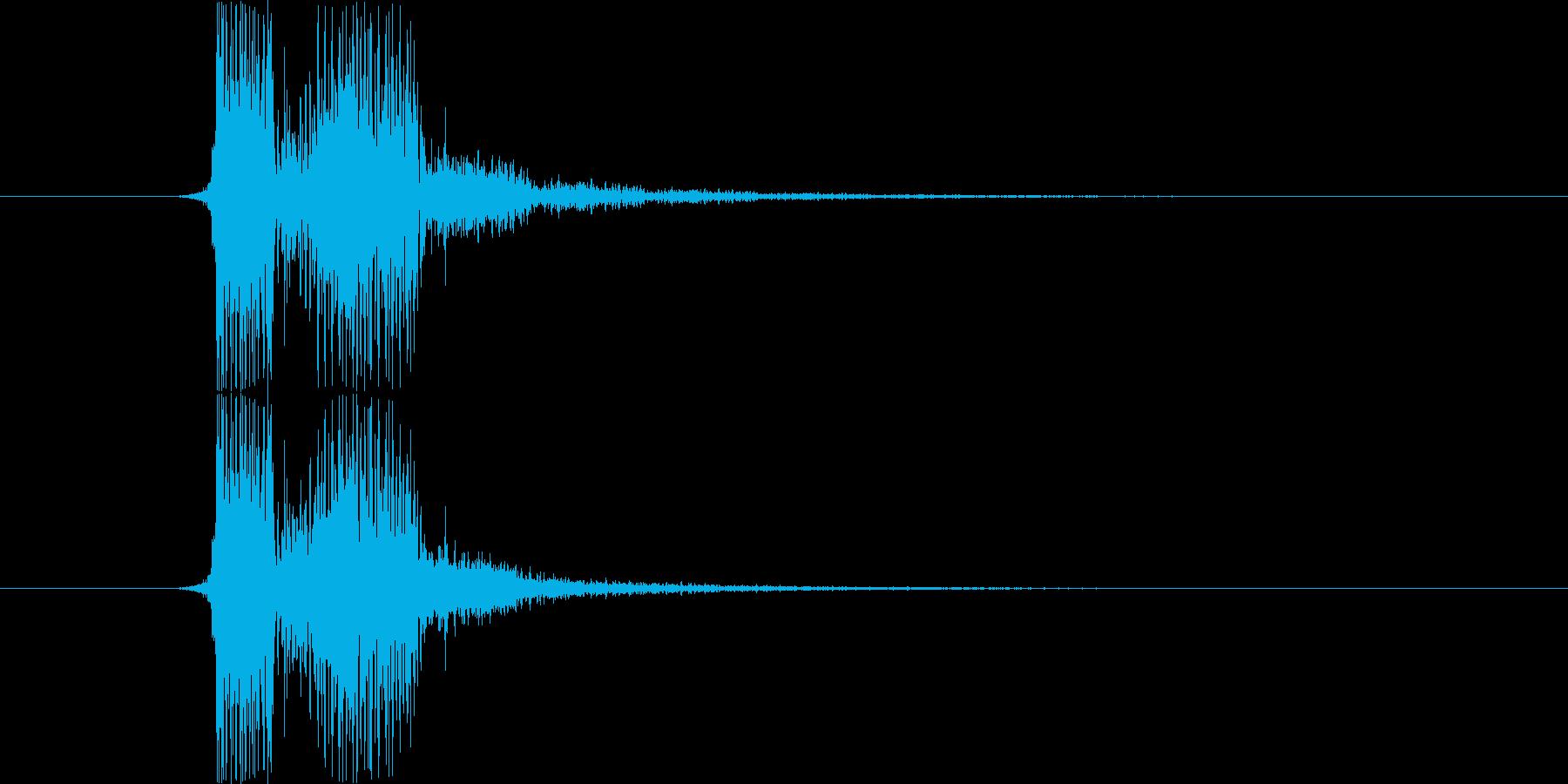 SF系の「フィニッシュ」という声の再生済みの波形
