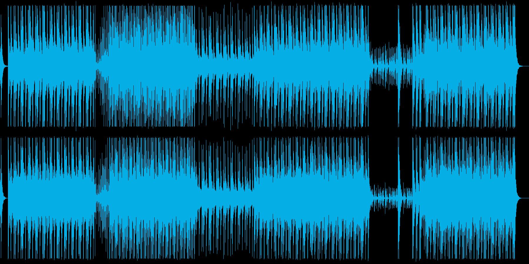 シンプルで力強い和太鼓アンサンブルBGMの再生済みの波形
