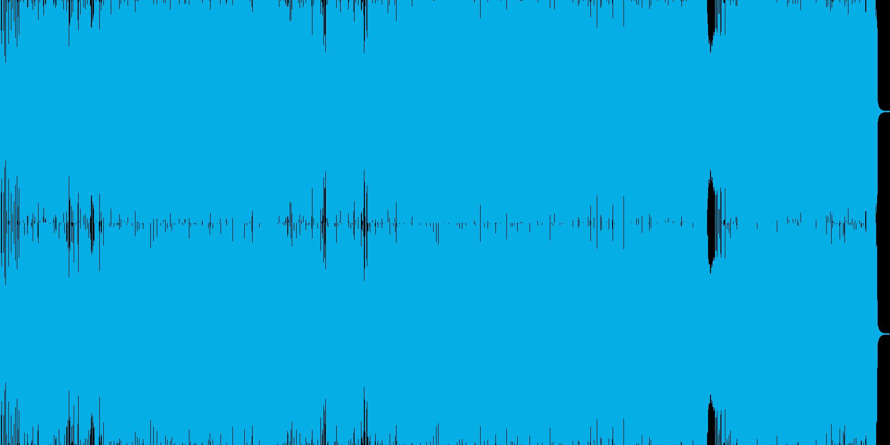 勢いのあるハードロックの再生済みの波形