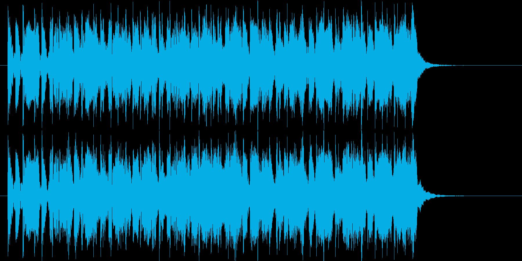 ワクワク感のあるオールディーズ風ポップスの再生済みの波形