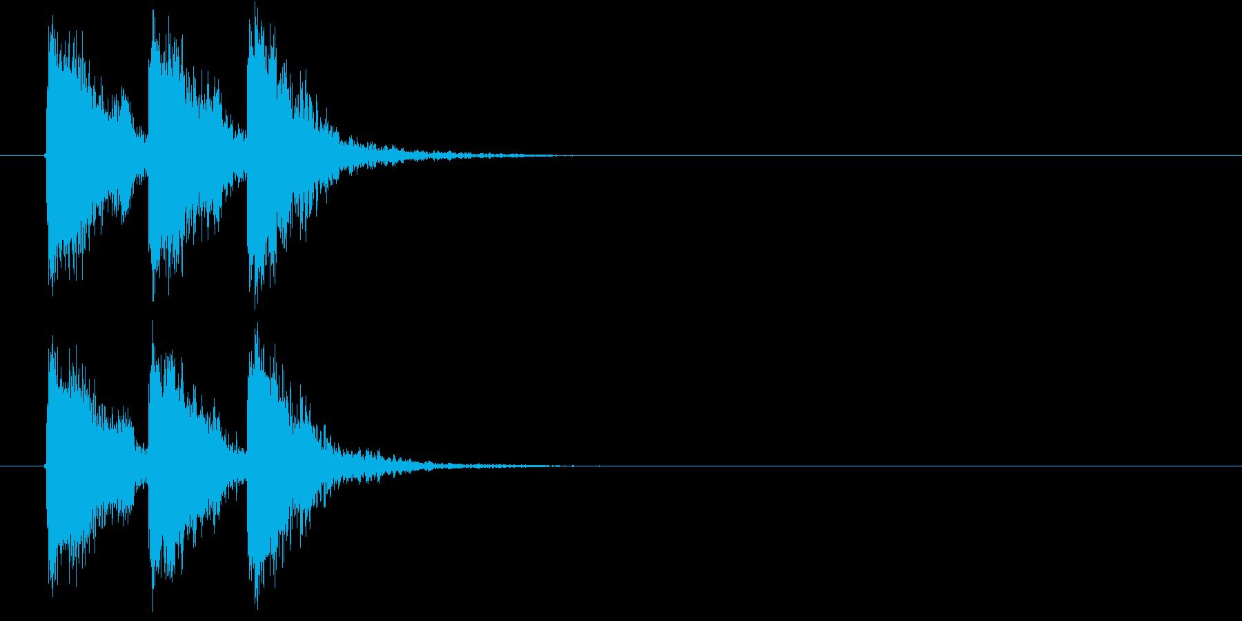 迫力のある効果音の再生済みの波形