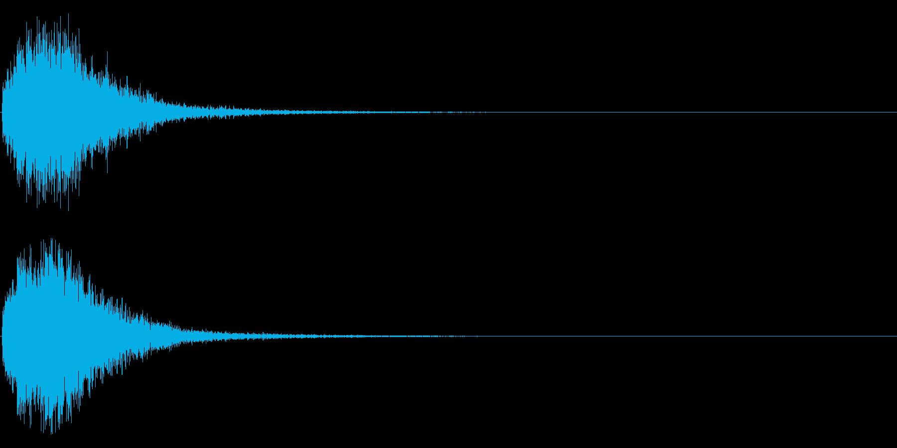デデーン♪オーケストラヒット効果音01cの再生済みの波形