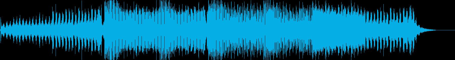 エレクトロダンス楽曲の再生済みの波形