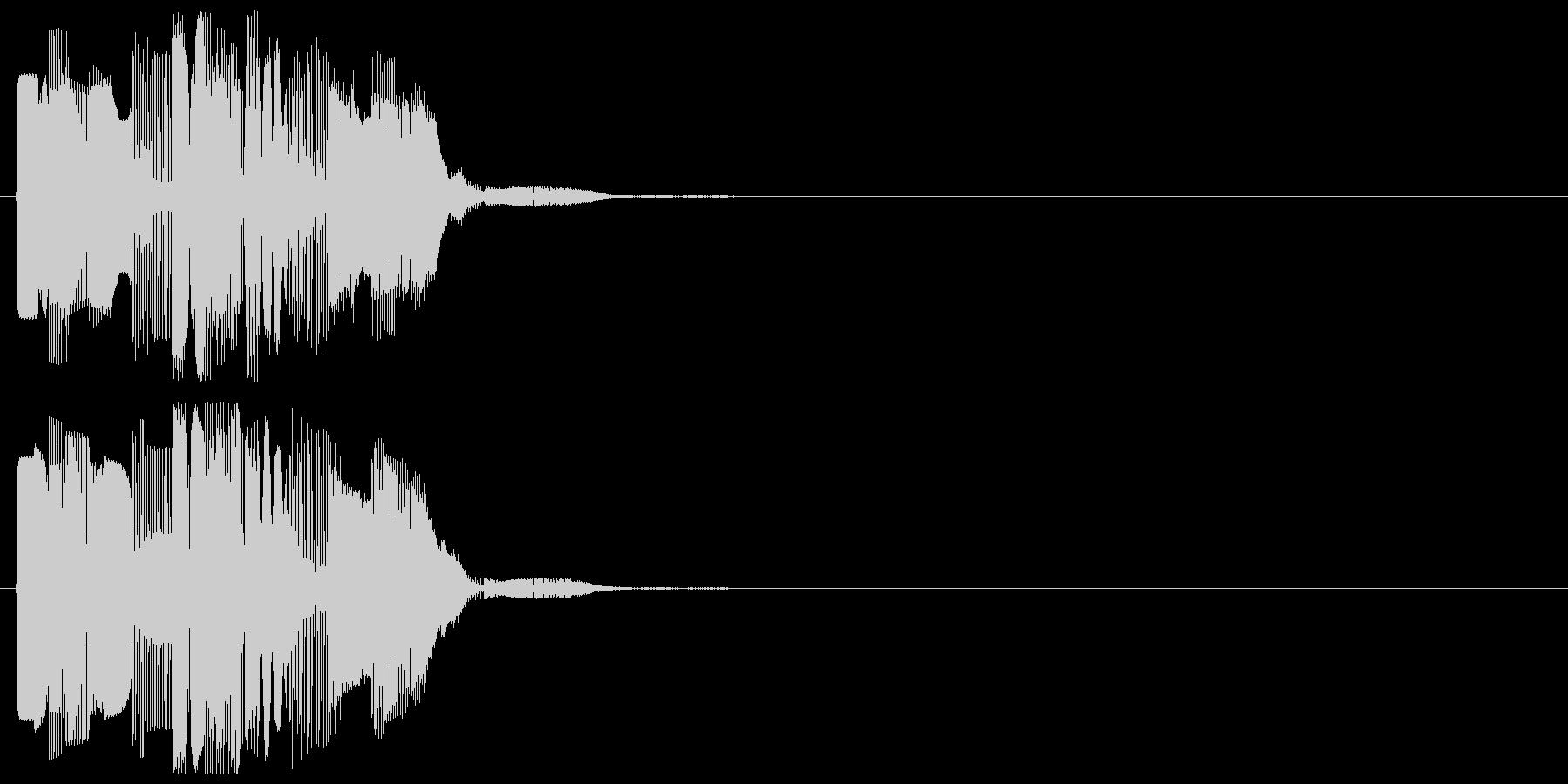 カーソル移動の未再生の波形