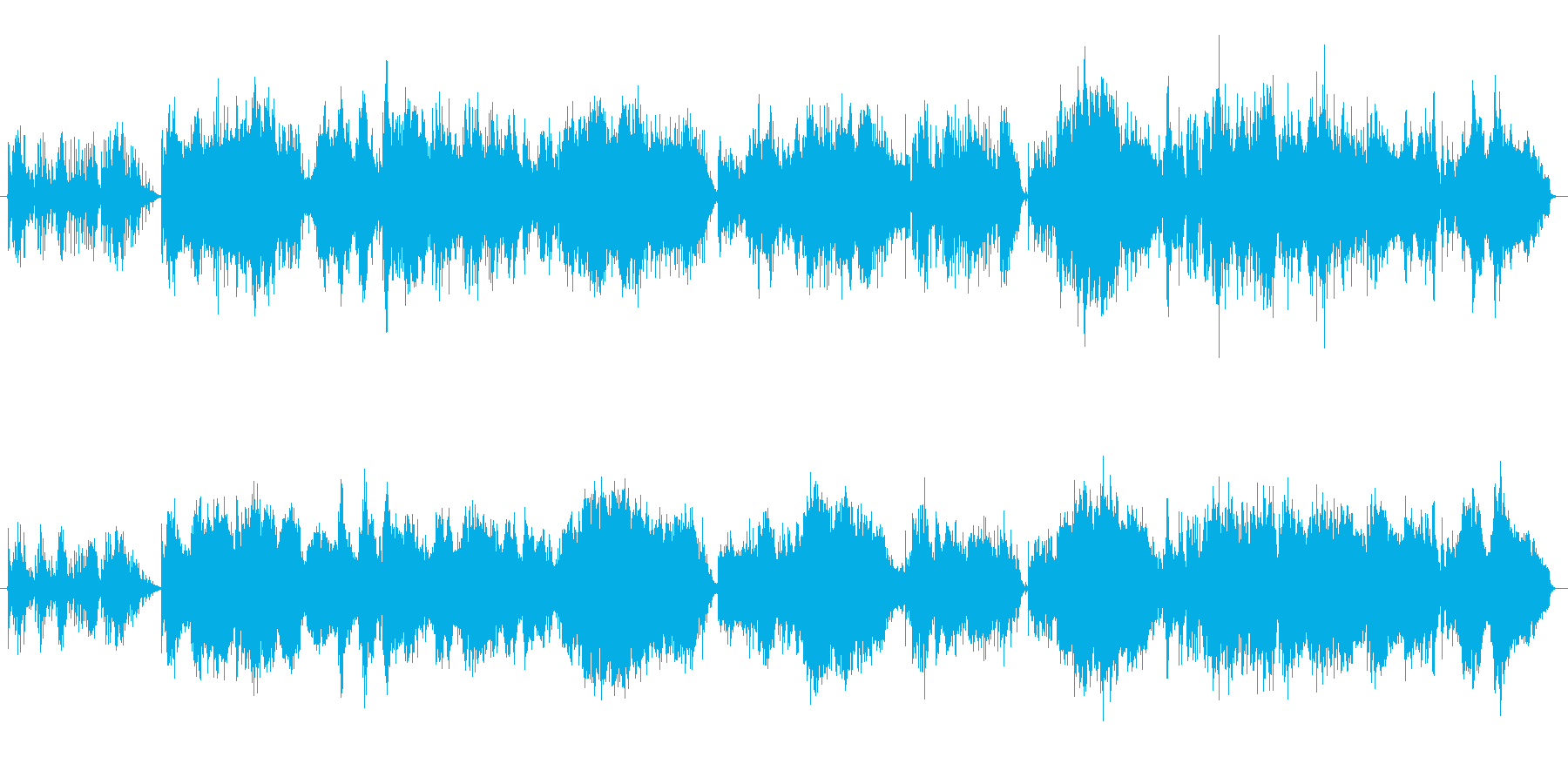 アクースティック楽器を使った神秘的で少…の再生済みの波形