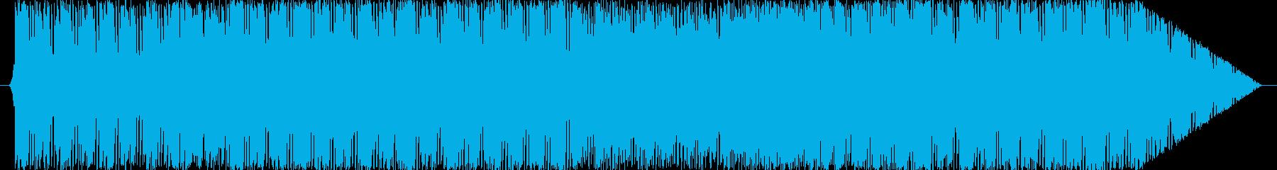 ミドルテンポの打ち込みロック戦闘曲の再生済みの波形