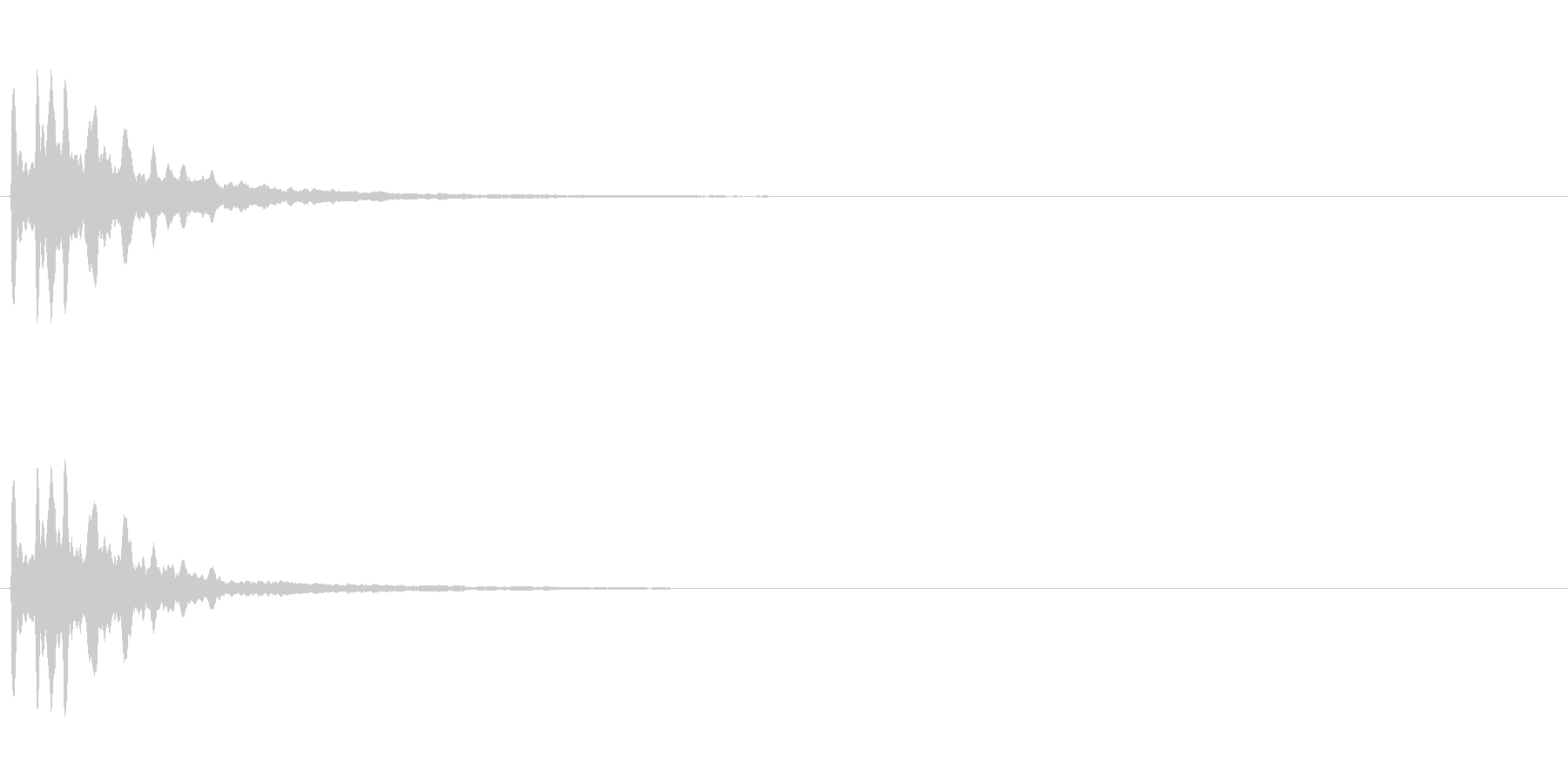 流れ星・星のきらめき音(音程低め)の未再生の波形
