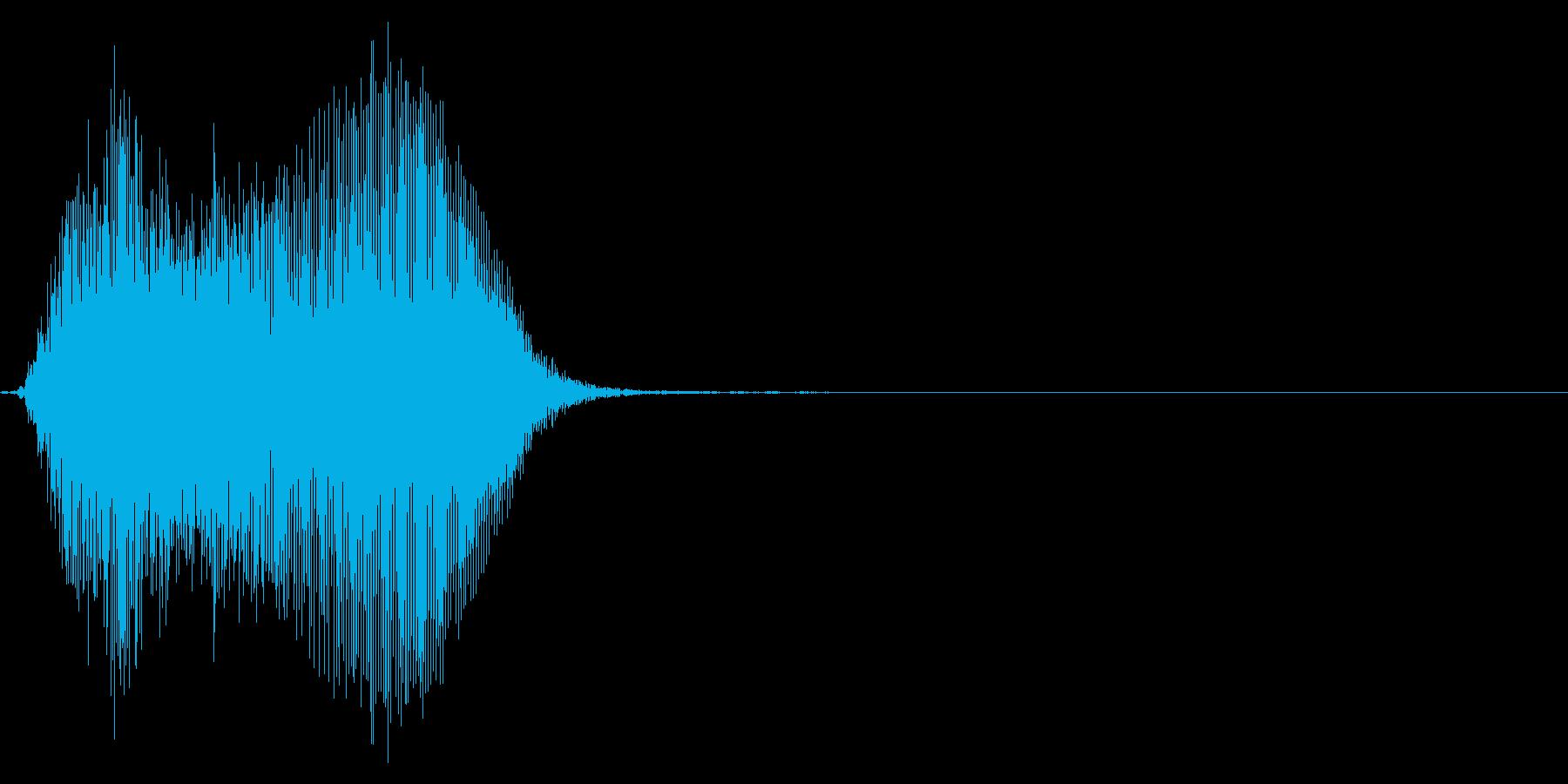 ゲーム掛け声男3ヒィ1の再生済みの波形