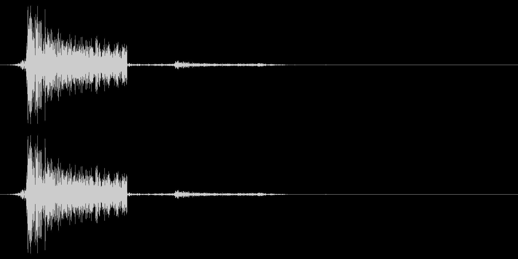ボタン音などのイメージ(プワシュ)の未再生の波形