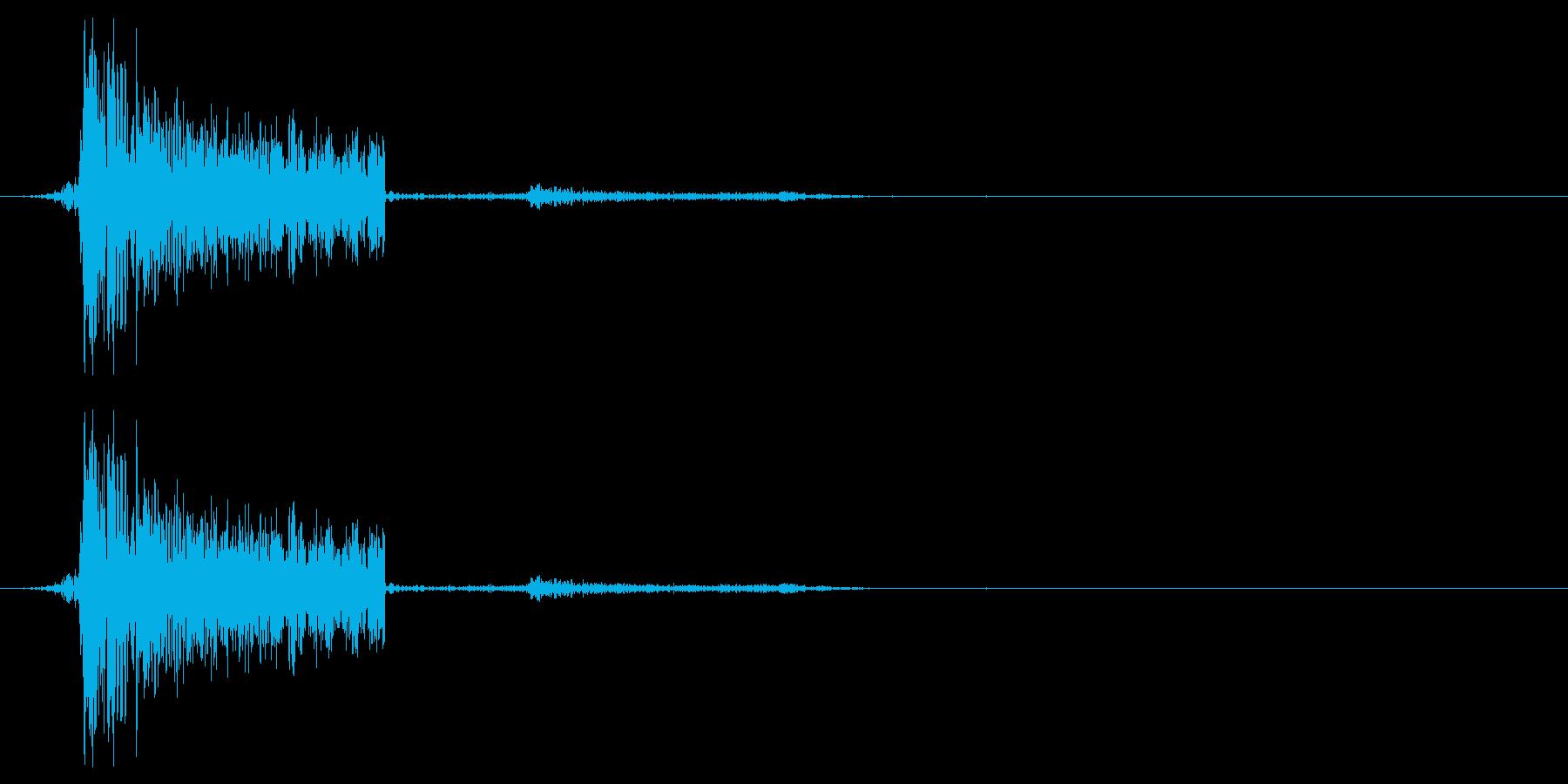 ボタン音などのイメージ(プワシュ)の再生済みの波形