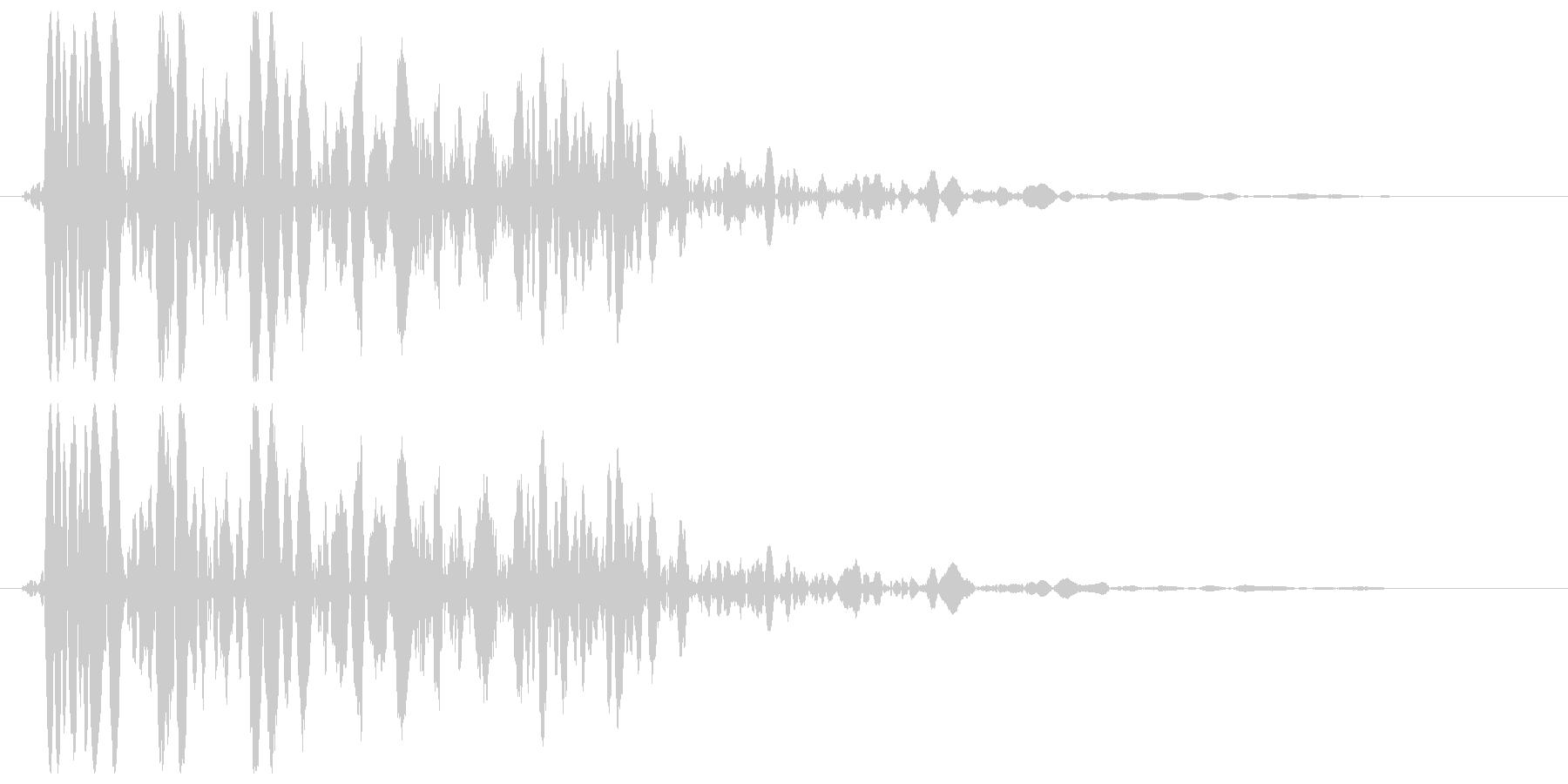 バァーンストッ(アメリカンな衝撃)の未再生の波形