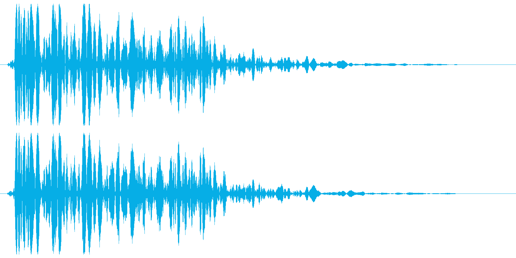 バァーンストッ(アメリカンな衝撃)の再生済みの波形