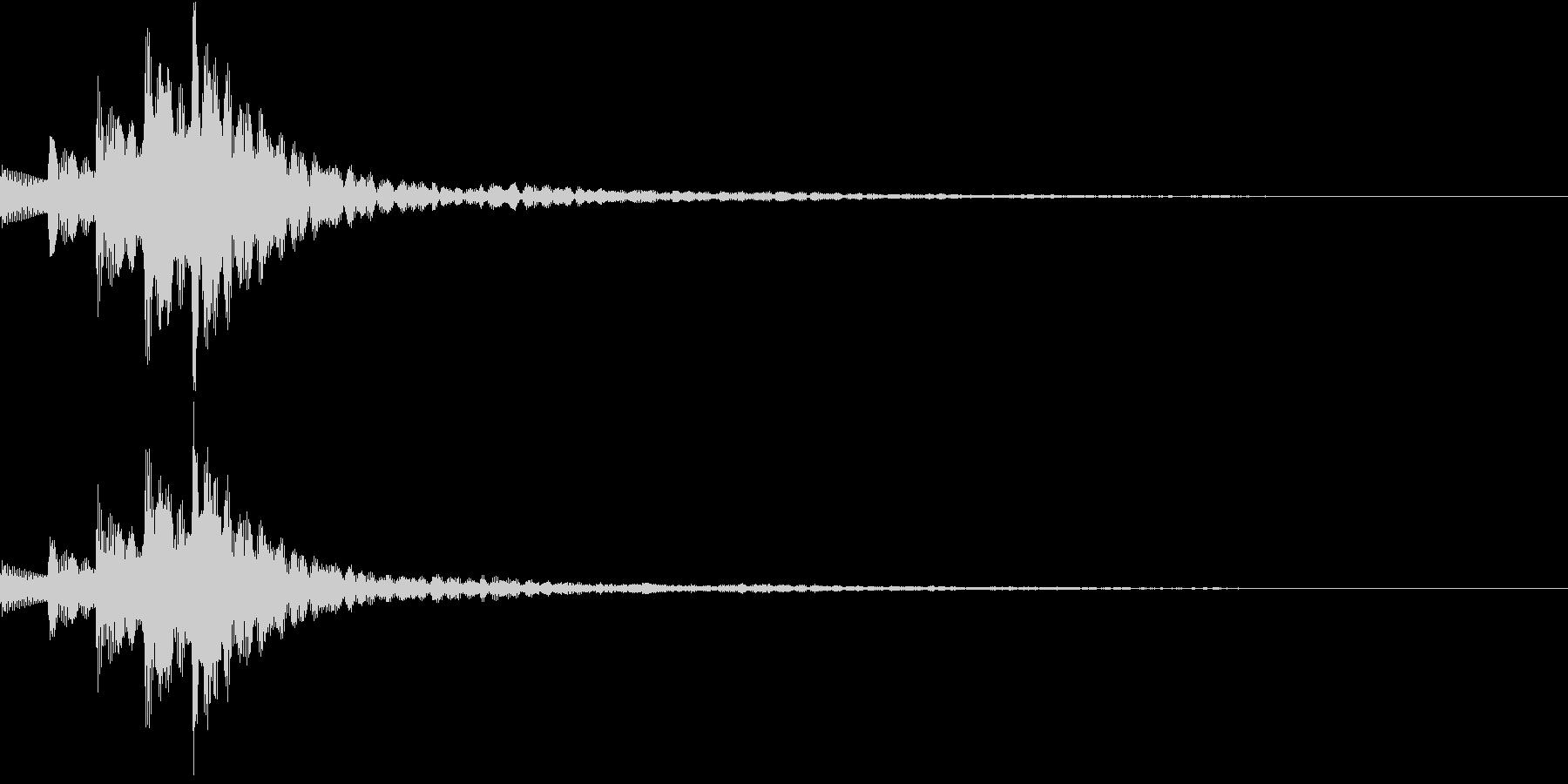 木琴 SE04の未再生の波形