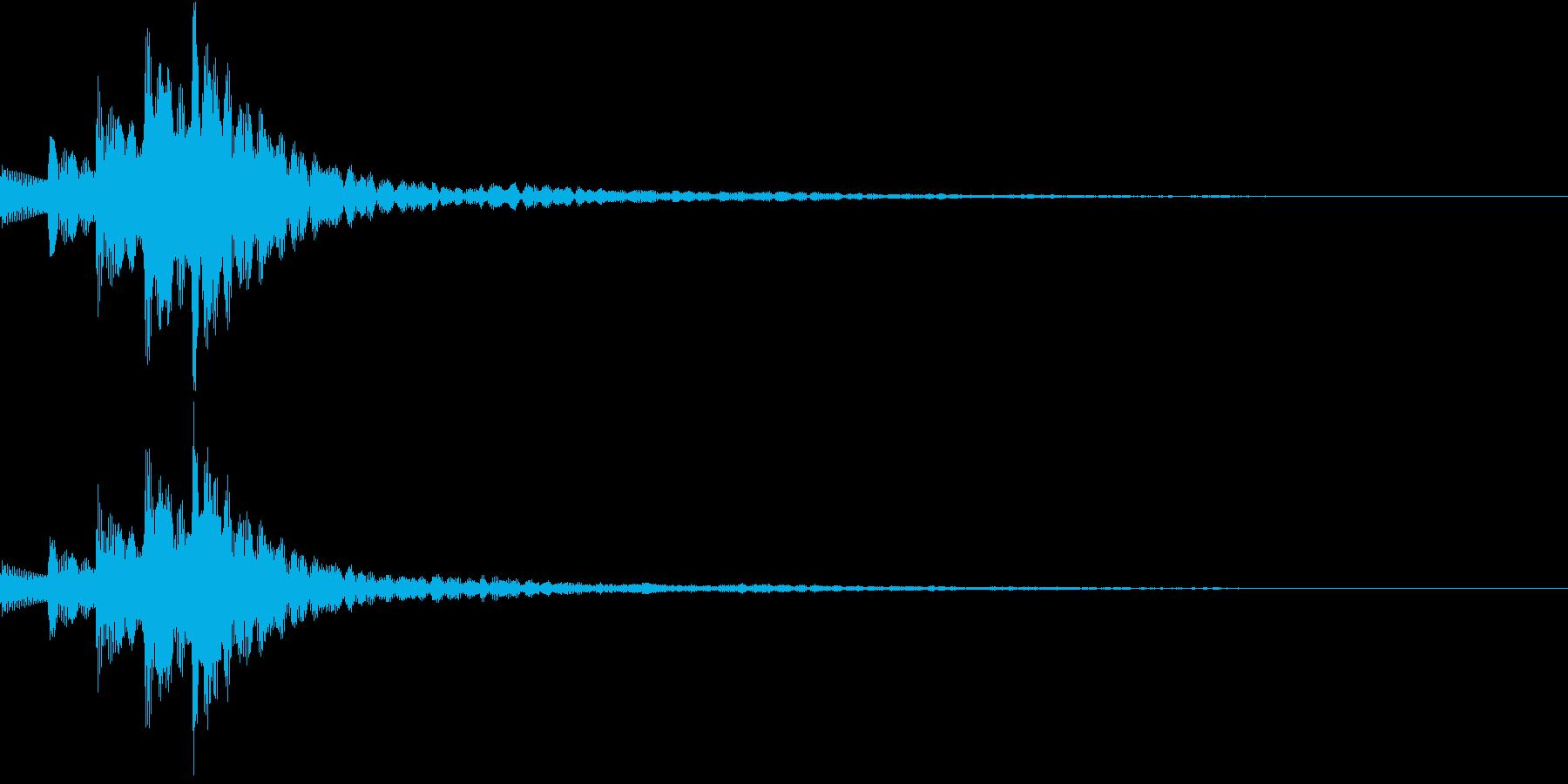 木琴 SE04の再生済みの波形
