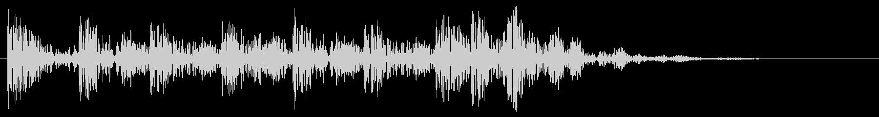 太鼓での場面転換音 打楽器 和風 どんの未再生の波形