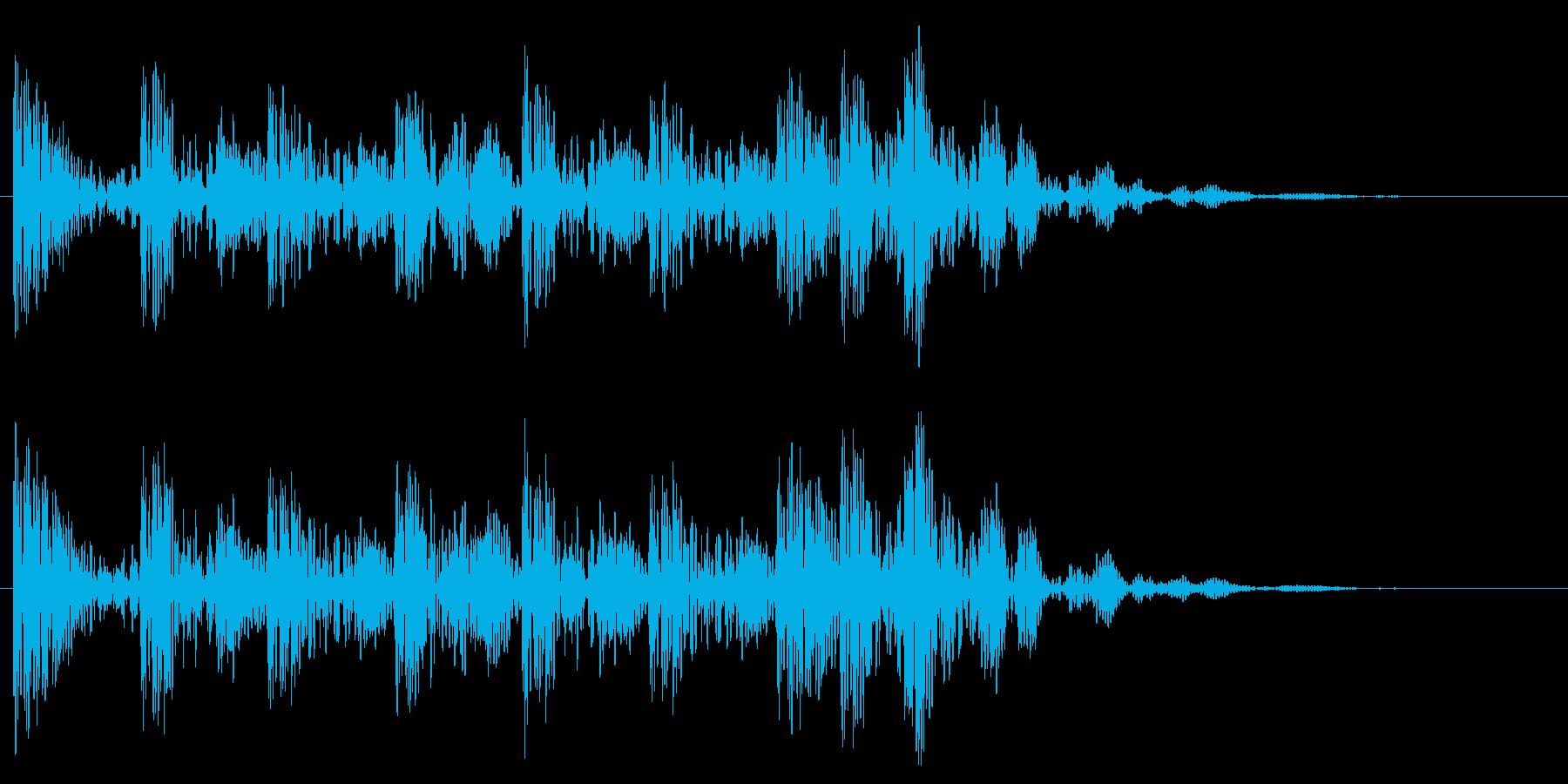 太鼓での場面転換音 打楽器 和風 どんの再生済みの波形