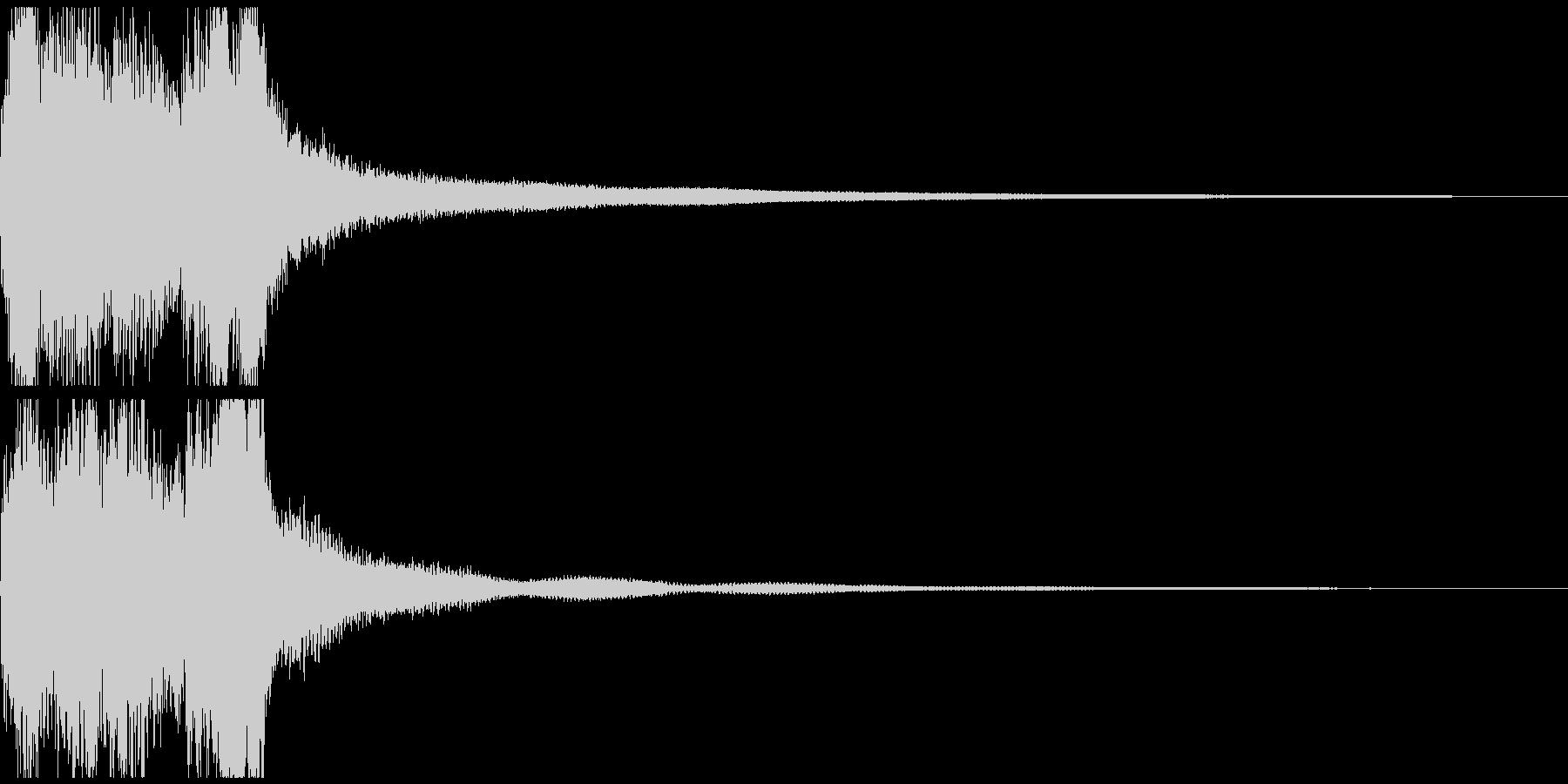ステージクリア レベルアップ の未再生の波形