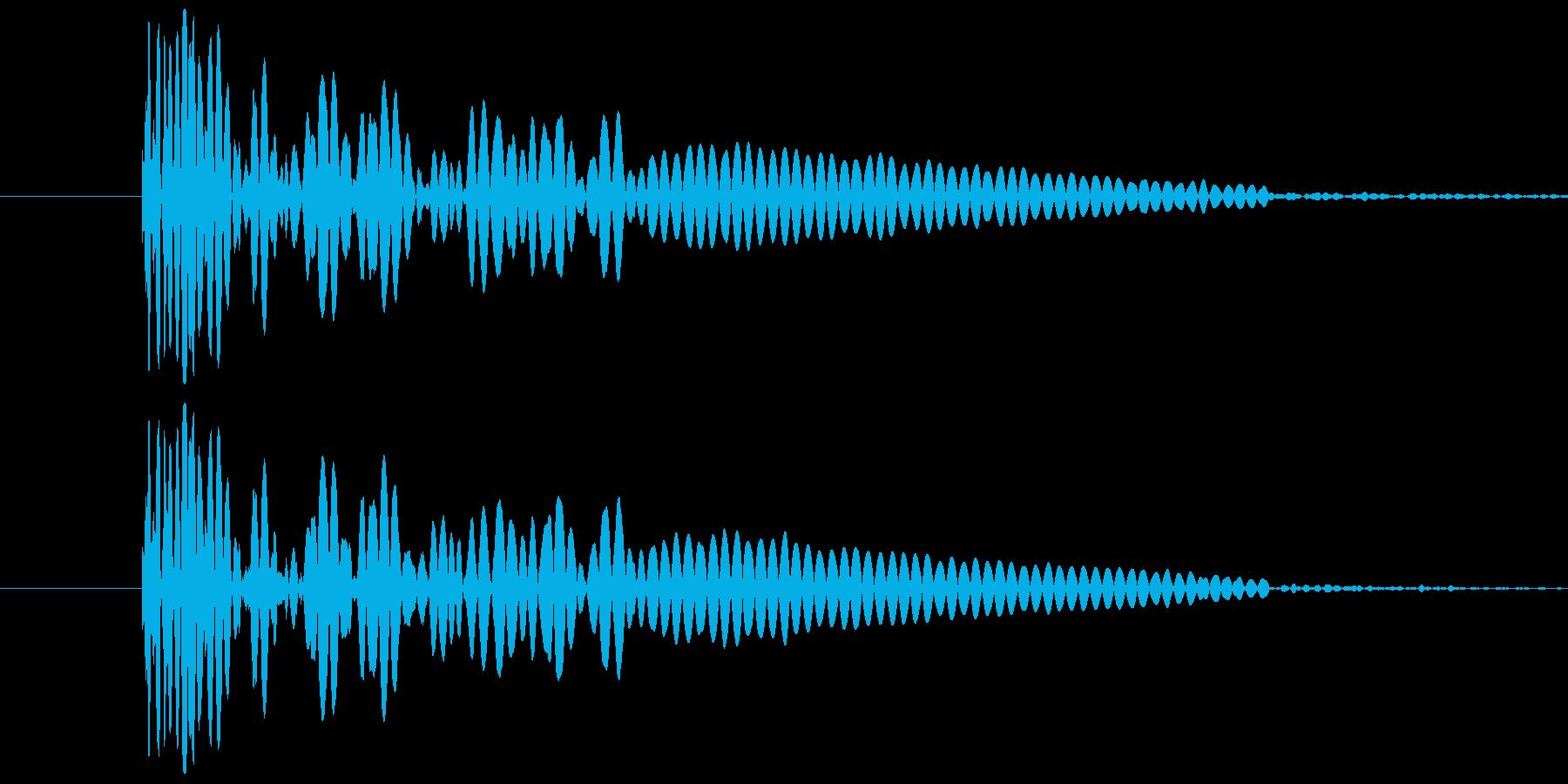 ドン(花火が打ち上がる時、爆発音)の再生済みの波形