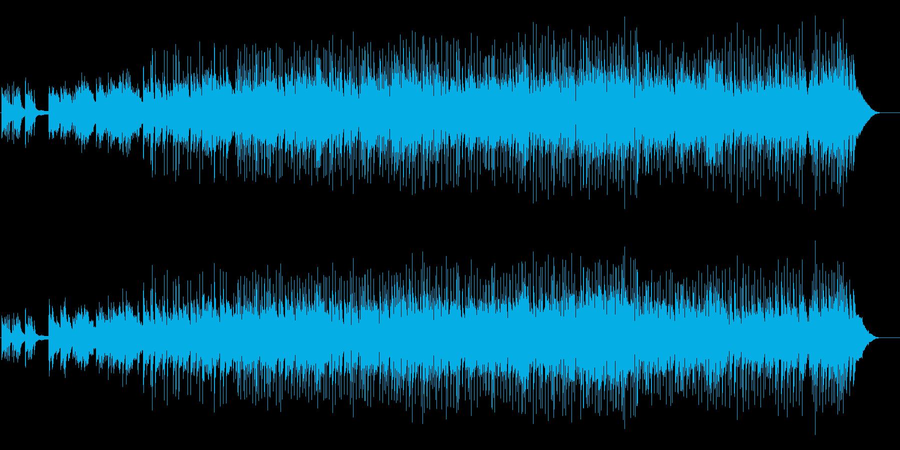 思い出が蘇るような感動的なストリングスの再生済みの波形