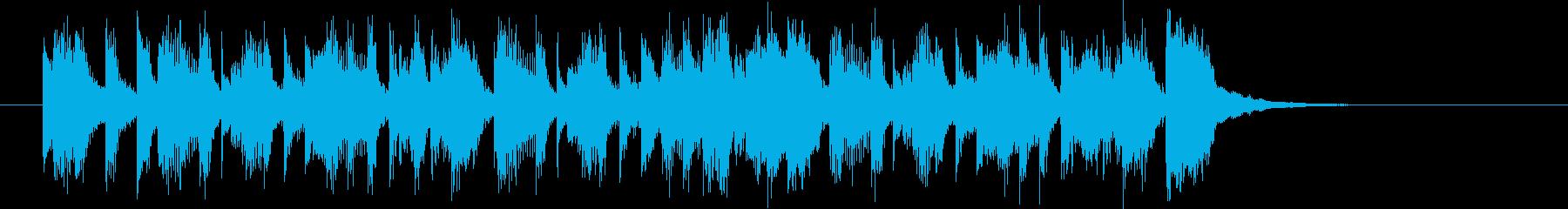 軽快でキャッチ―なシンセポップジングルの再生済みの波形
