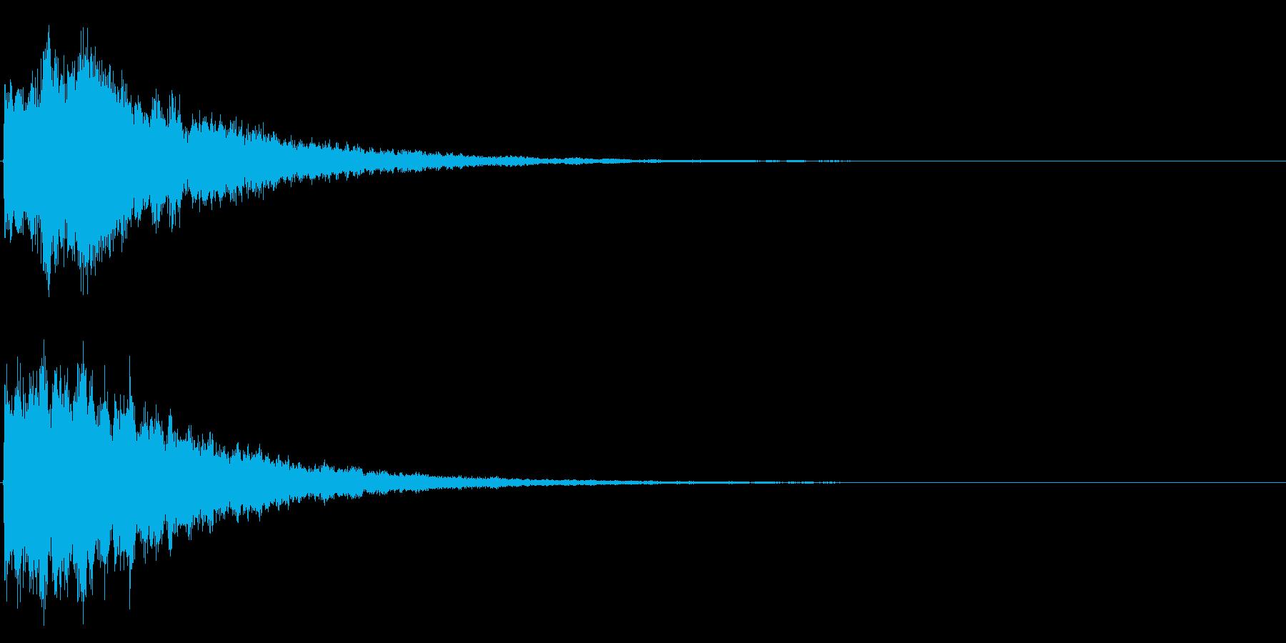 ゲームスタート、決定、ボタン音-036の再生済みの波形
