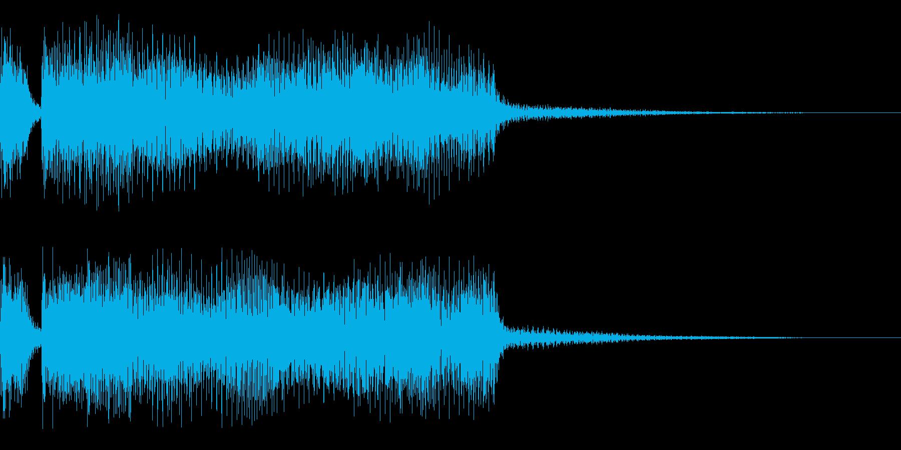 ジャジャーン 明るいシンセ音 登場の再生済みの波形