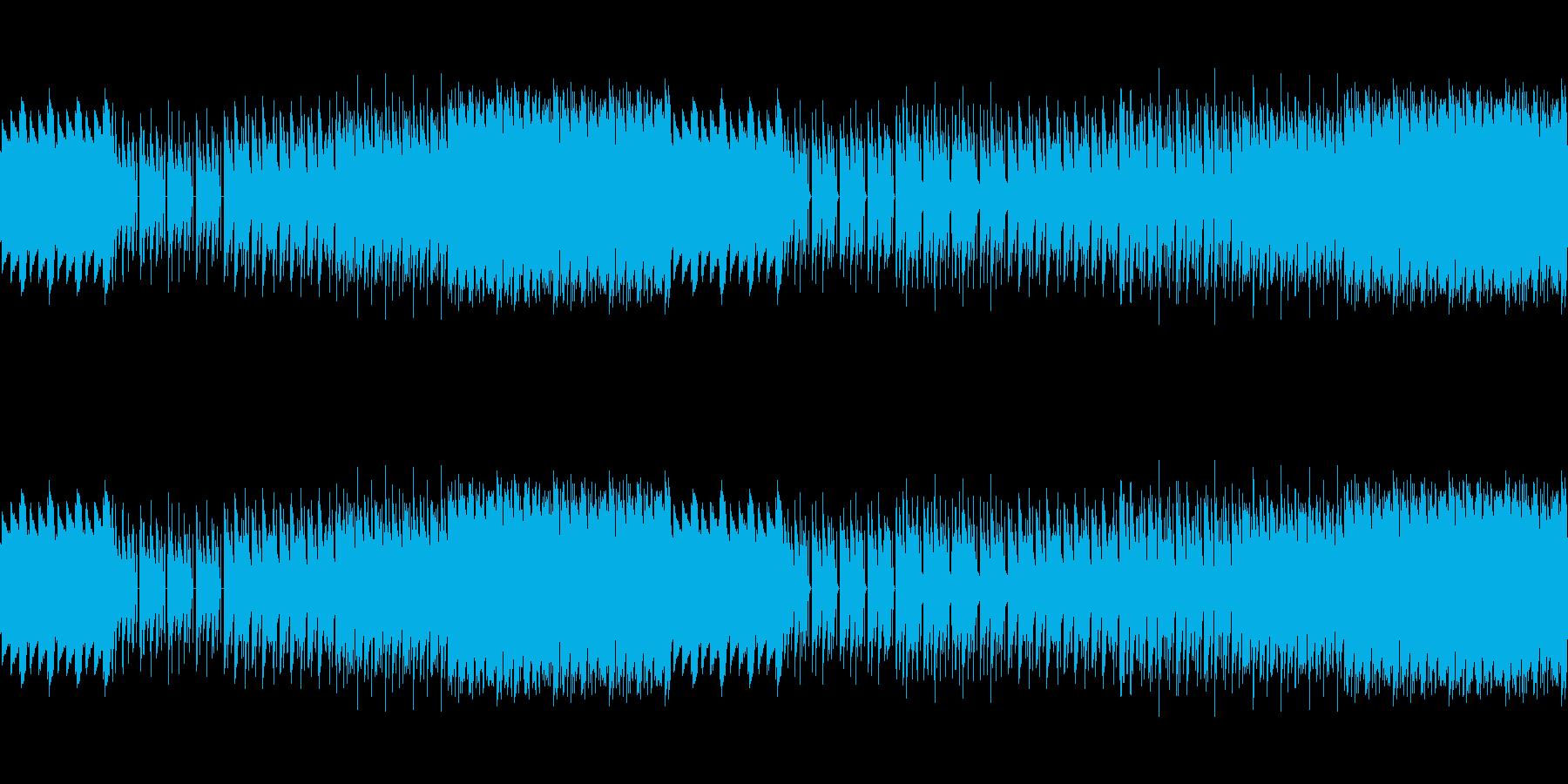 8ビットゲームサウンドBGM 05の再生済みの波形