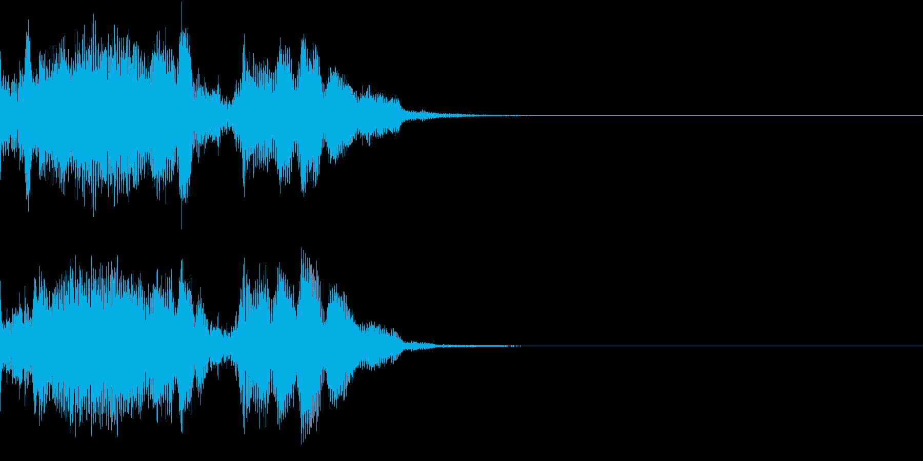 Monster 未知の生物の発する音声1の再生済みの波形