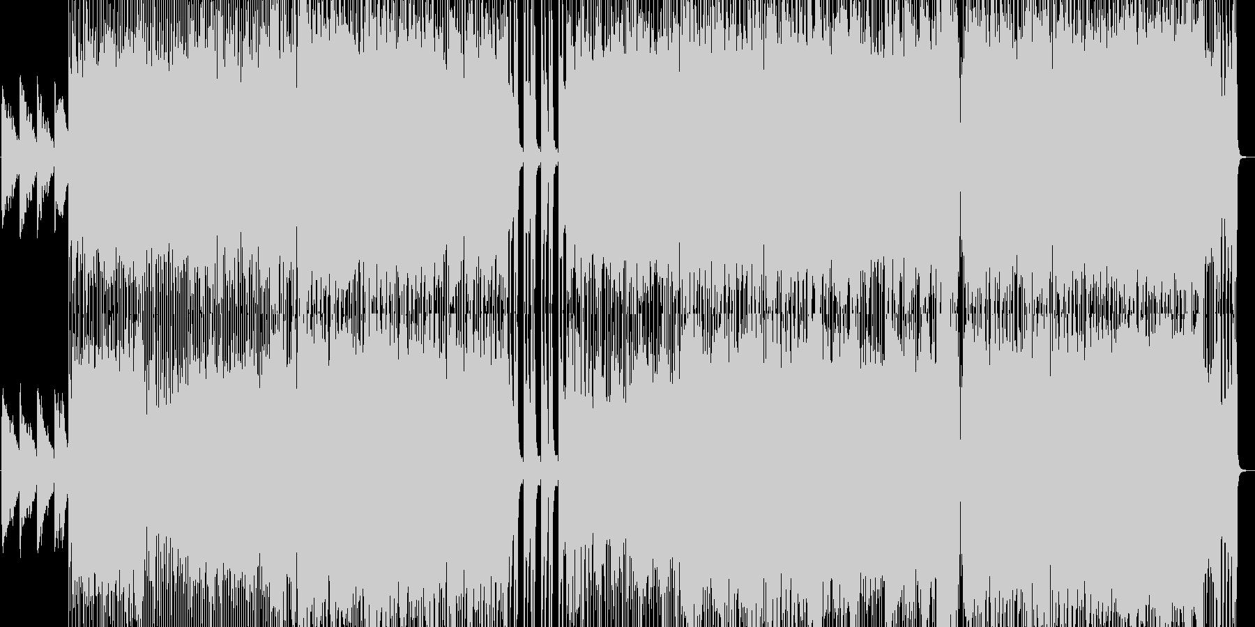 キュンと切ないガールズポップロックの未再生の波形