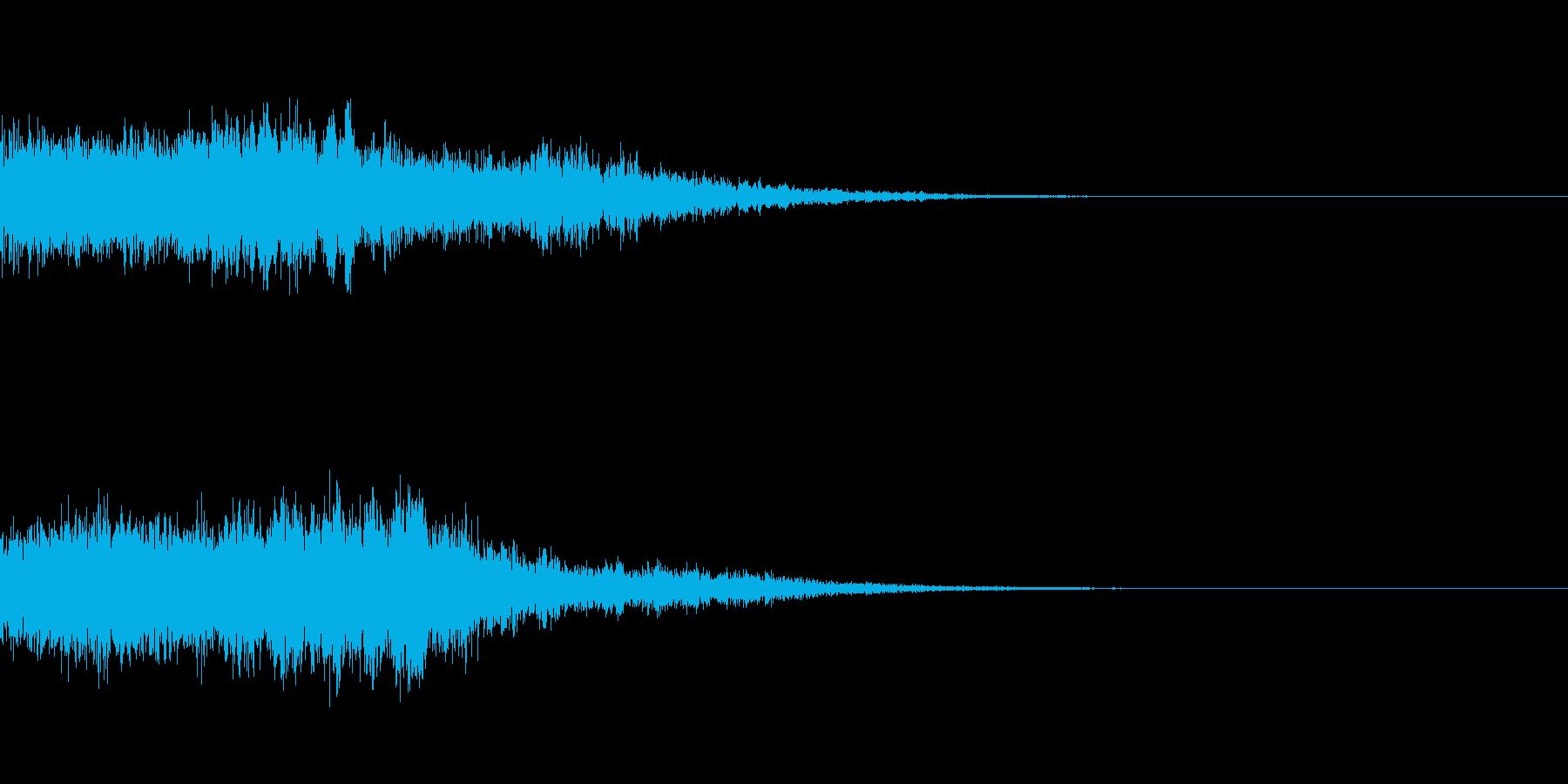 割れた鐘のような音ですの再生済みの波形