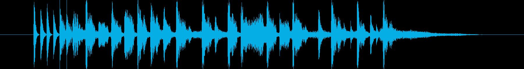 デジタルシンセのテクノポップの再生済みの波形