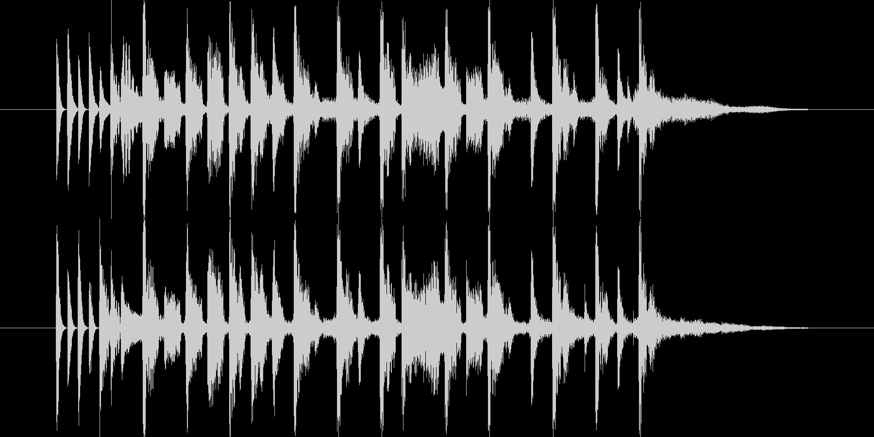 デジタルシンセのテクノポップの未再生の波形