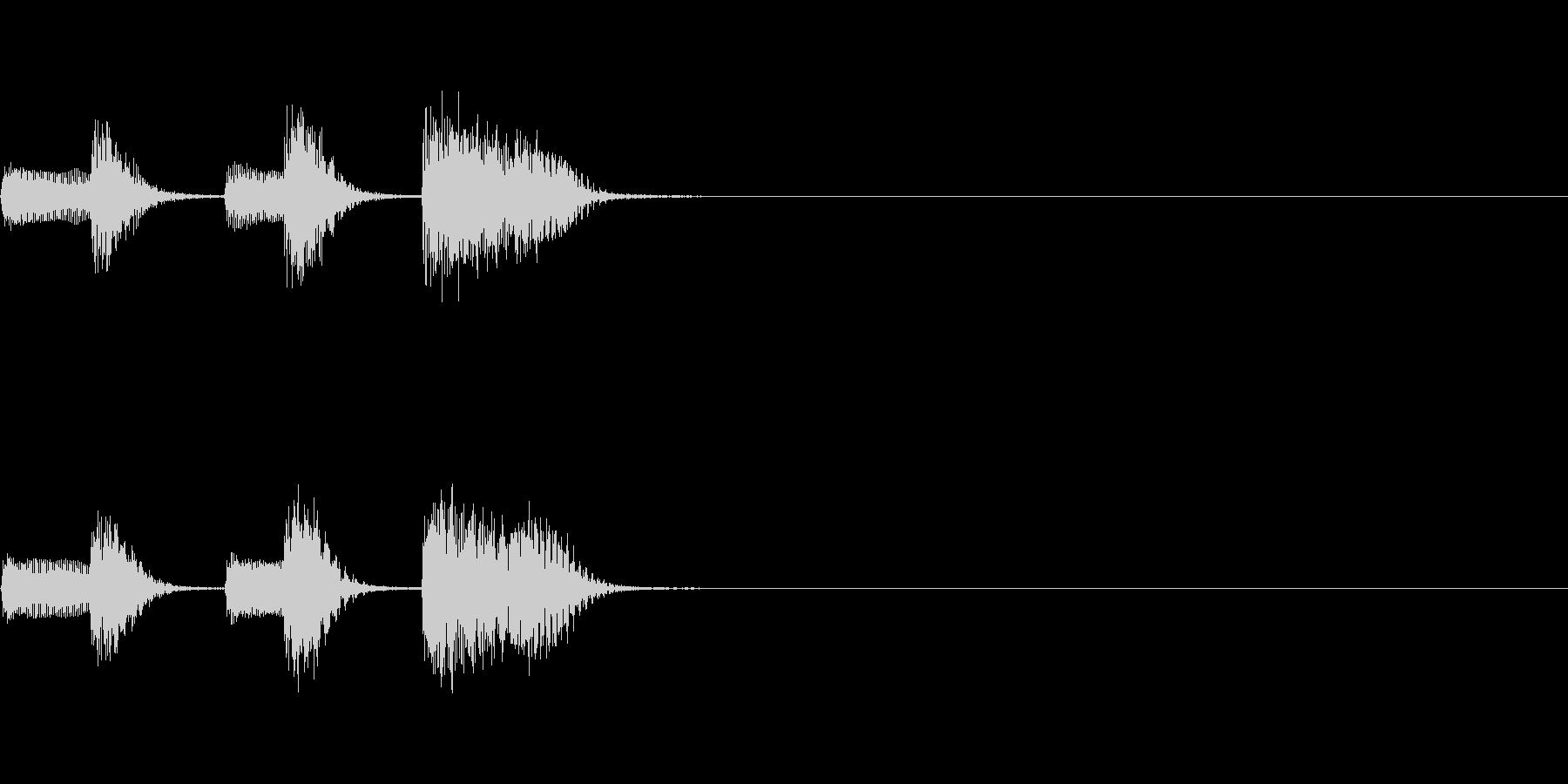 やさしいピアノ・サウンドロゴ4の未再生の波形